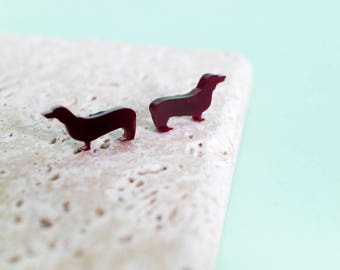 Dachshund Earrings - Sausage Dog Earrings - dachshund studs - dog earrings - dog jewellery - dachshund jewellery - dog gift - dog jewelry