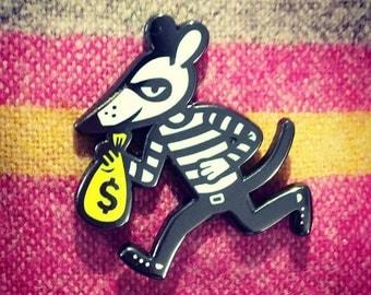 MONEY MOUSE enamel lapel pin