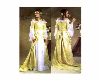 Misses Floor Length Gown Renaissance Costume McCalls 4414 Sewing Pattern Size 6 - 8 - 10 - 12 Bust 30 1/2 -31 1/2 - 32 1/2 - 34 UNCUT