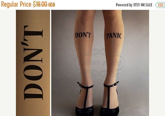 ON SALE/////// sexy Don't Panic thigh-high stockings cafe latte