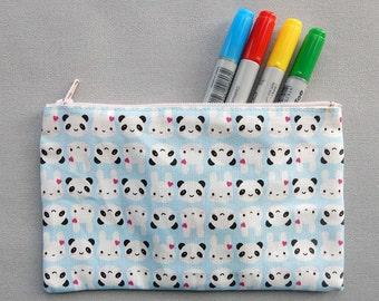 Kawaii Fabric Pencil Case - Bunny & Panda (Super Cute Kawaii)