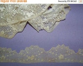 NEW YEAR SALE Reserved  For deccanna  Vintage  Irish Crochet Trim Scalloped Edge