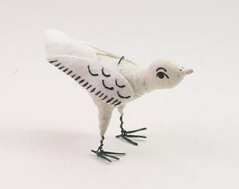 READY TO SHIP Vintage Inspired Spun Cotton Little Sparrow Figure/Ornament