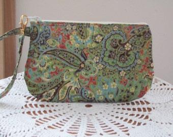Clutch Wristlet Zipper Gadget Pouch Smart Phone Bag in  Splendid Grandeur KALASHAZ