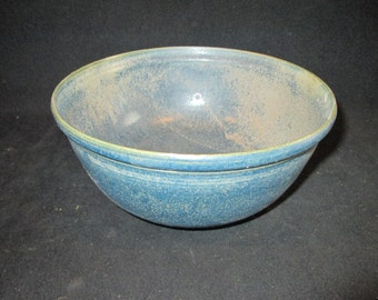 serving bowl in matte turquoise, stoneware pottery, dishwasher and food safe