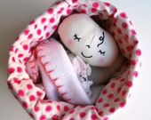 Bitty Baby in a Purse - Tiny Babydoll with Play Accessories and Fold Down Purse Bed - Quiet Play - Travel toy - miniature - bottle diaper