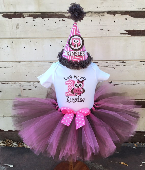 Look Whoo's Turning 1, Owl Tutu Outfit, 1st Birthday Tutu
