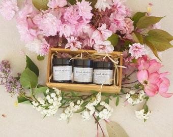 Lip Balm Trio Gift Set in Bamboo Box