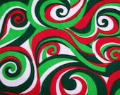Springs Creative Products Swirls Christmas Fabric, Cotton Fabric, Clothing Quilting Crafting fabric, BTY, Half Yard, Fat quarter, #167