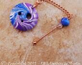 Purple & Blue Swirl Spinner's DIZ and Threader Set - No 1 - ORIGINAL CONVEX - On Sale