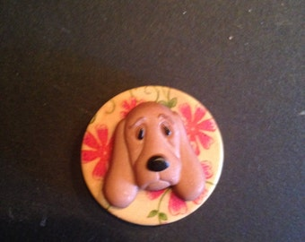 Magnetic Brooch, Hound Dog