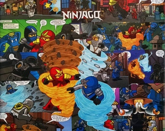 LEGO Ninjago - Decoupage Comic Collage Canvas