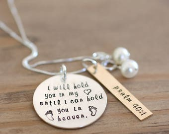 held necklace - remembering loss through miscarriage, infant loss, etc.