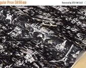 Japanese Fabric - Yuwa Night View of Paris - black - 50cm