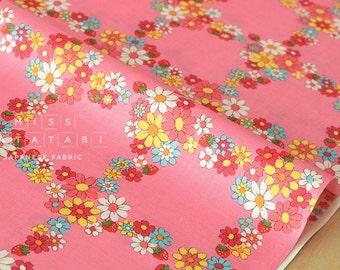 Japanese Fabric Atsuko Matsuyama Fancy Cross - pink - fat quarter