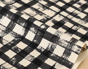 Japanese Fabric Kokka Gingham - black - 50cm