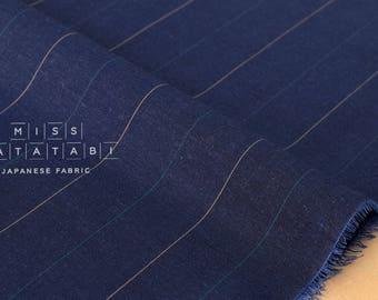 Japanese Fabric lawn stripes - blue - 50cm