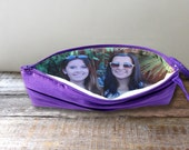 Personalized Photo Clutch For Mother or Sister in Law Gift- Custom Photo Clutch 32 Colors Available