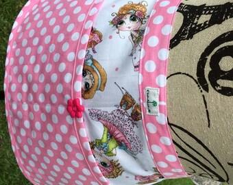 Child's Half Apron - Best Friends Cotton Candy Pink