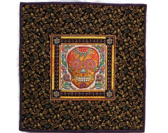 3-D Sugar Skull Mexican Dia de los Muertos Day of the Dead Quilt