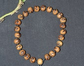 Sandalwood Elder Futhark Rune Wrist Mala Bracelet - Meditation, Divination, Pagan, Wicca, Witchcraft, Norse