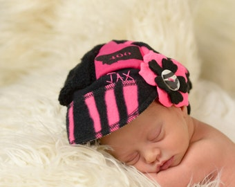 Infant Jax Hat - Montana hat - pink hat - Christmas gift baby - Baby Shower gift - stocking stuffer - baby girl hat - Upcycled recycled hat