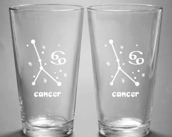 Cancer Zodiac Constellation Pint Glass