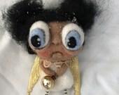 Angel ornie  oak art doll