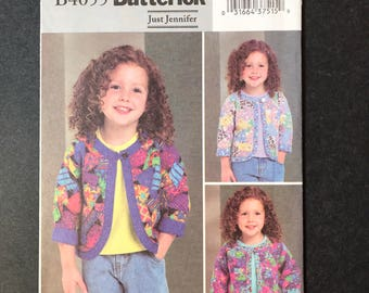 Girl's Patchwork Jacket Pattern - Butterick 4055 size 4,5,6