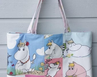 RESERVED Large tote shopping bag shoulderbag with Moomins Snorkmaiden
