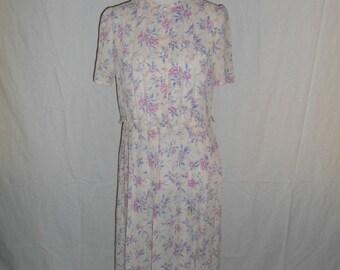 SALE 70's 80's vintage floral  dress  Joseph Magnin     pretty cute      womens women ladies clothing clothes