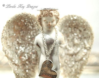 Angel of Patience Frozen Charlotte Guardian Angel Sculpture Original Mixed Media Assemblage Doll Lorelie Kay Orginal