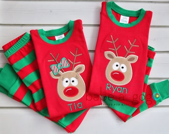Reindeer Striped Pajamas by babe-a-gogo for Babies, Toddlers, Girls, Boys