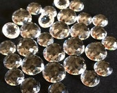 Clear Quartz 10mm Gemstone Cabochon Rose Cut Micro Faceted FOR TWO