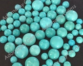Gemstone Cabochon Turquoise 8mm Round FOR TWO