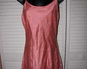 cyber monday holiday sale lot 2 vintage 90s pink lace coral silk slip nightgowns size Medium M