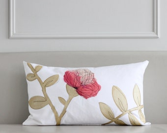Hot Pink & Gold Cushion Cover
