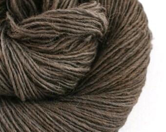 Olana fingering weight cormo alpaca angora blend yarn 300yds/274m 2oz/57g Charred Coal
