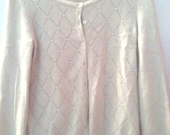 Vintage Anne Taylor Beaded Cardigan sweater