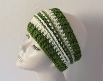 Crochet Blue/White Ear Warmer