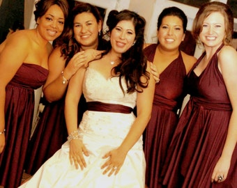 Quality USA Custom Convertible dress- like Twobirds  Dresses made to exact size, length  Marsala Wine Rosegold Dusty Blue Slate  1000 colors