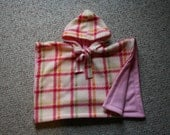 INFANT SIZE Car Seat Poncho baby carseat coat cover Pink Plaid girls