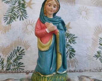Vintage Plaster Creche Mary Nativity Italy