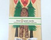Portland Postcard set: Big Love and Stumptown Love