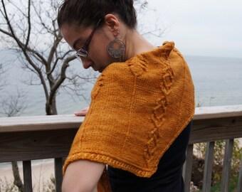 Topaz Hand Knit Scarf