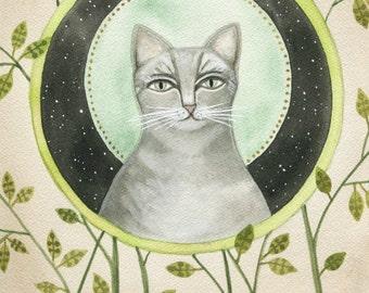 Space Cat // archival print