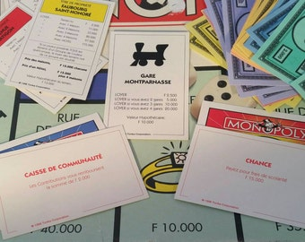 French Paris Edition Monopoly Game Card Pack