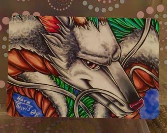 "Spirited Away Haku Dragon - 6x4"" Matte Art Print"