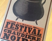 Black Pot Festival 2010 Lafayette, Louisiana Letterpress Poster