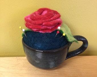 Rose Teacup Pincushion